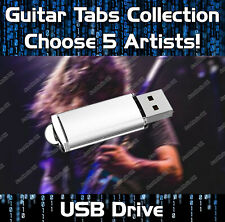5 x ARTISTS COLLECTION MULTIBUY GUITAR TABS TABLATURE TUITION SOFTWARE USB