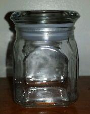 Clear glass stash jar