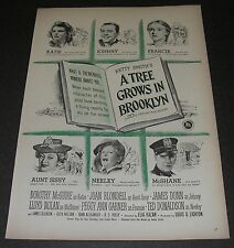 Print Ad 1945 MOVIE Release Promo A Tree Grows in Brooklyn Dorothy McGuire