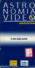 VHS= ASTRONOMIA VIDEO=IL CIELO DEGLI ANTICHI=IN DIRETTA DAL COSMO=VOLUME 15