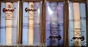 Men cotton Handkerchiefs Color 6 hankies  100% Cotton Size 40 cm X 40 cm