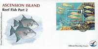 Ascension Island 2012 FDC Reef Fish Part 2 1v S/S Cover Yellow Goatfish Marine