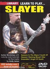 LICK LIBRARY Learn To Play SLAYER Killer Riffs Angel of Death METAL GUITAR DVD