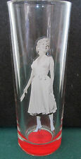 MARILYN MONROE     POSING WITH HER HANDS OUT TO THE SIDE   TALL SHOT GLASS