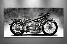 Bmw r32, imagen sobre lienzo, Oldtimer, motocicleta, año 1923, lounge, 2673