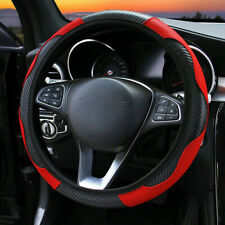 Us Car Steering Wheel Cover Carbon Fiber Leather Non Slip Fit 37 38cm Universal Fits 2002 Toyota Corolla