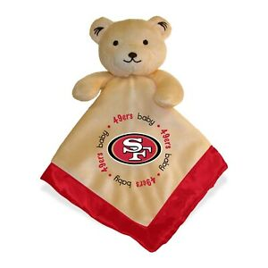 San Francisco 49ers Baby Security Bear Blanket, NFL Officially Licensed 14X14