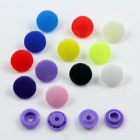 PLASTIC 10mm & 12mm POP SNAP FASTENERS *11 COLOURS* DUMMY CLIPS CRAFTS