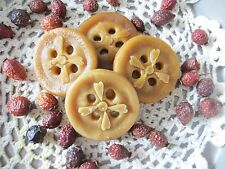 Primitive Handmade Warm Vanilla Sugar Scented Tarts* Large Button* Bowl Fillers