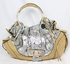 Marciano by Guess Silver Metallic Nude Clutch Shoulder Bag Handbag Purse