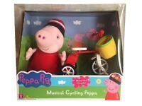 Peppa Pig de Musical Ciclismo Motorizado Triciclo & Peluche Playset Juguete