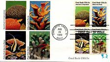 US FDC #1830a Coral Reefs, Andrews (1375)
