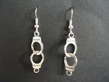 Handcuff Earrings * Novelty Jewellery * police bondage fancy dress