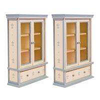 2pcs 1:12 échelle poupées maison mini meubles armoires en bois accessoire de