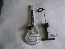 """New listing Kiss Band """"Freedom To Rock"""" Concert Tour Miniature Guitar Signed"""
