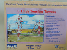 HIGH TENSION ELECTRICAL TOWERS (5) ** Kit **  HO Scale Train *NEW* FREE SHIPPING