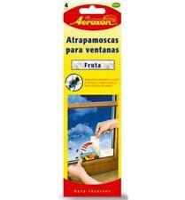 Tiras adhesivas atrapa moscas para ventanas con Diseño frutal Aeroxon 4uds