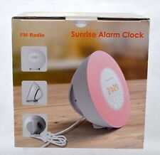 MOSCHE Sunrise Alarm Clock Wake Up Light 6 Nature Sounds FM Radio Color Changing