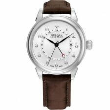 NEW IN BOX Bulova Accutron Gemini Men's Automatic Watch Leather 63B153 $1,350
