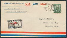 1929 #CL46a Cherry Red Aug 12th Flight Cover, Stanley Mission to Prince Albert