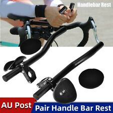 Bike Bicycle Alloy Triathlon Aero Rest Handle Bar Handlebar Clip On Tri Bars AUS
