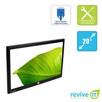 "HP LE2002x 20"" 1600x900 Widescreen LED Backlit LCD Monitor ONLY DVI VGA Grade B"