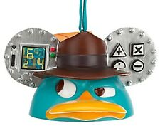 Disney Parks Perry the Platypus as Agent P Mickey Ear Hat Christmas Ornament