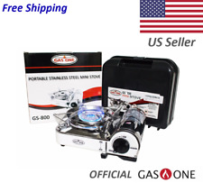 GAS ONE Stainless Steel MINI Portable Butane Camping Stove with carrying case