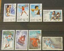 Laos 1992 Olympische Spiele Barcelona und Albertville Lot Gummiert