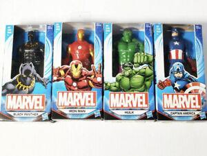 "Marvel Hulk Black Panther Ironman Captain America 6"" Action Figure Lot"