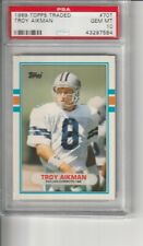 1989 Topps Traded Troy Aikman PSA 10 RC! HOF Cowboys #70T