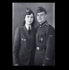 German Military Couple Portrait PHOTO Uniform WW2 World War 2 Germany