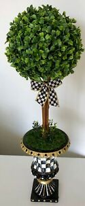 MY OWN Hand Painted Courtly Topiary with MacKenzie-Childs Ribbon Bow