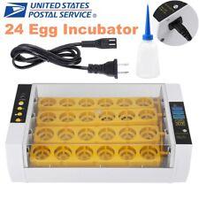 New listing Automatic Turning Chicken 24 Eggs Incubator Digital Hatcher Temperature Control