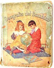 Barbier: La geografia del bambino - ed. Salani 1923 illustrato 214 incisioni