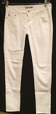 "Ladies White Straight Leg Jeans ""Just USA"" Juniors Sz-7/ 28W ~~ NEW"