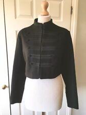 Zara Black Wool Short Military Style Jacket With Toggles Size M UK 12 BNWT