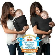 New Baby Wrap Ring Sling Boy or Girl 4 in 1 Carrier Kids N Such Charcoal Black