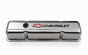 Proform 141-905 Stamped Valve Cover Chevrolet And Bow Tie Emblem