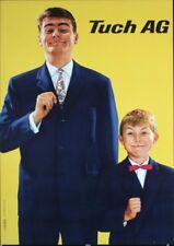 TUCH CLOTHINGS Fashion Vintage 1958 Swiss advertising poster 36x51 NM