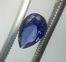 Pear Cut 8 x 5 mm Blue Lab Created Sapphire Loose Gemstone