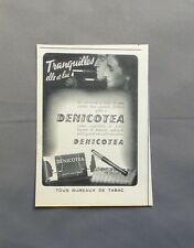 PUB PUBLICITE ANCIENNE ADVERT CLIPPING 100517 / DENICOTEA FILTRE SANS NICOTINE