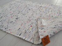 White Pastel Chindi Rag Rug Handmade Recycled Cotton 150x90cm 5x3 Hemmed