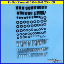 Motorcycle Complete Fairing Bolt Kit body screws For Kawasaki 2004-2005 ZX-10R