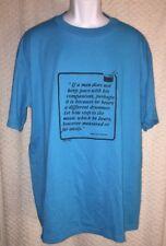 Vintage Henry David Thoreau Different Drummer Quote t-shirt size adult XL