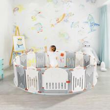 Child Foldable Kid Safety Activity Center Playard w/Locking Gate Baby Playpen