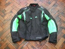 Viper rider WATERPROOF MOTORCYCLE JACKET CE ARMOUR BLACK/YELLOW size 44, euro54