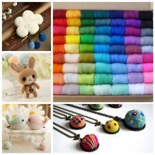 12bags/lot 100 Random Colors/bag Wool Fiber Roving Felt For Needle Felting Ha…