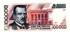Mexico… P-94a … 100.000 Pesos … 1988 … *XF+*  Prefix XX. Serie E.
