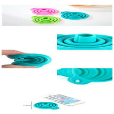 Sale TIAC Silicone Gel Practical Collapsible Foldable Funnel Hopper Kitchen Tool